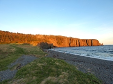 Skerwink Head at Sunset, from Sam White's Cove
