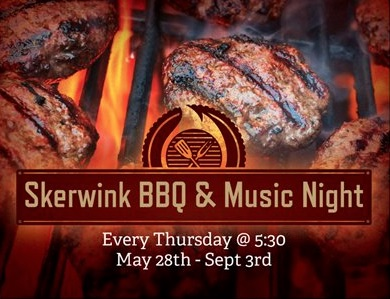 BBQ and music banner copy