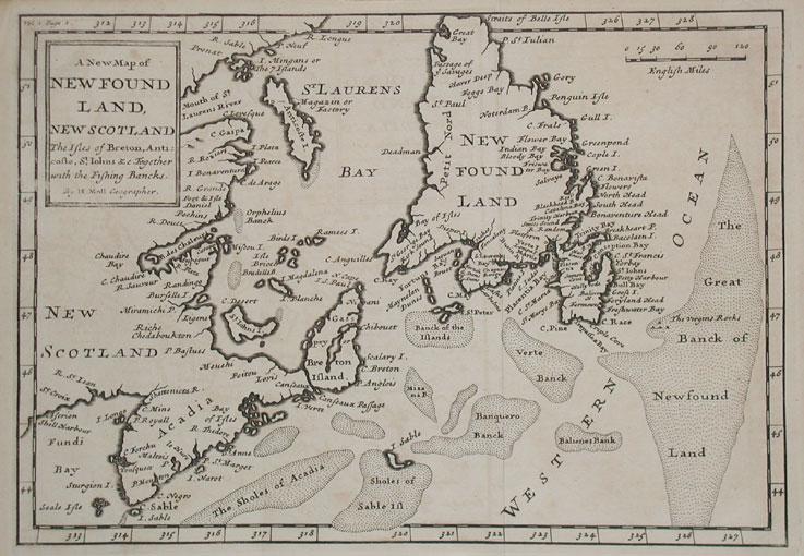 Newfoundland_1736 map
